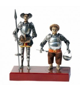 Figure Don Quixote and Sancho Panza, 24 cms.