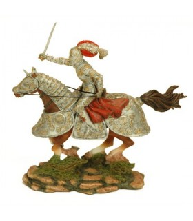 Figura caballero medieval pintada