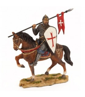 Figure Templar Knight with shield, 10 cm.