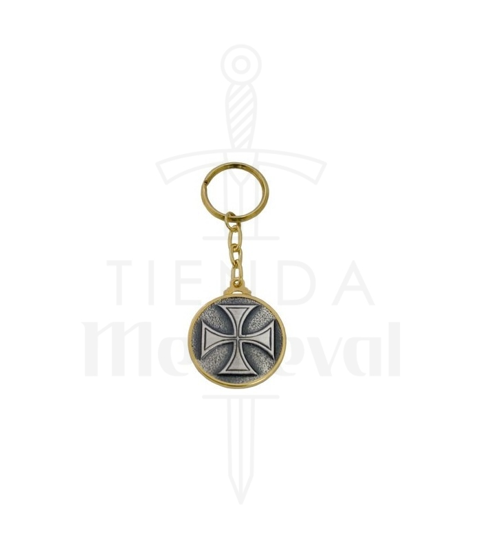 Pate Cross Keychain