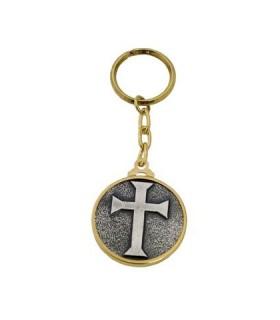 Llavero cruz teutónica
