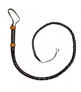 Leather whip half (120-150 cm.)