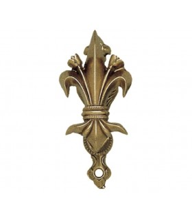 Support golden fleur de lis wall