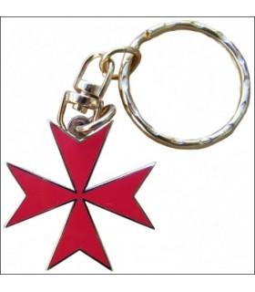 Maltese Cross Keychain