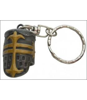 Medieval Templar Helmet Keychain