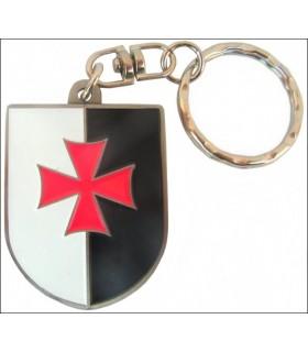 Templar crest keychain