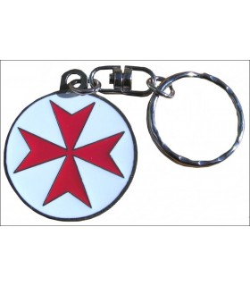 Malta Templar Cross Keychain