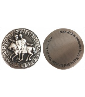 Templar seal paperweights, silver finish