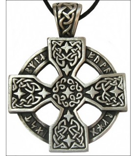 Runic Celtic Wheel Pendant