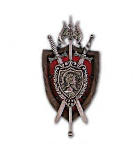 Cape of arms of 2 swords + ax (26x12 cms)
