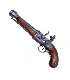 Pistola pirata de chispa siglo XVIII (zurda)