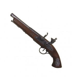 Flintlock pistol, nineteenth century France. (Left-handed)