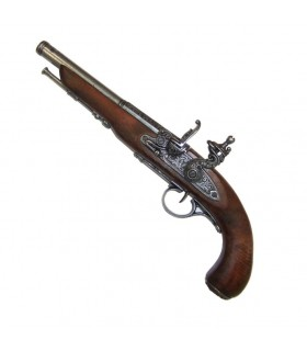 Flintlock pistol, the eighteenth century. (Left-handed)