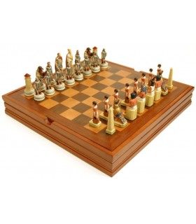 Egyptian and Roman Chess (37.5 x37, 5x6 cm.)