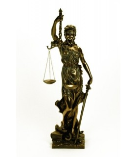Figure of Themis, Greek Goddess of Justice, 66 cms.