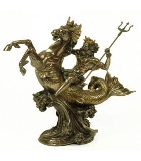 Figure Greek god of the sea Poseidon, 30 cms.