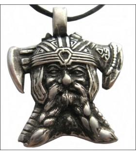 Viking Head Pendant