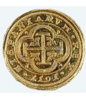 100 escudos gold coin, 4 cms.