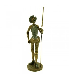 Don Quixote figure standing with spear