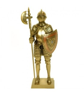 Figure medieval knight with lance