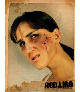 Cut face makeup with blood