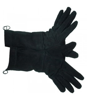 Black medieval gloves