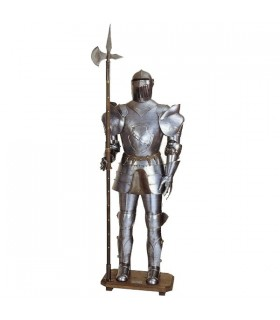 Medieval armor with spear