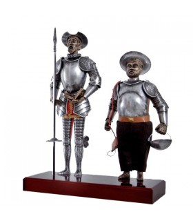 Figure Don Quixote and Sancho Panza, 42 cms.