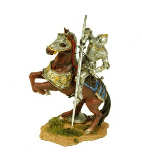 Figure painted medieval knight