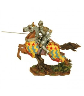 Figure medieval knight on horseback