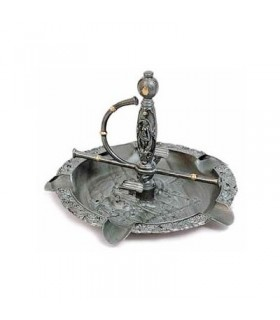 large ashtray with sword
