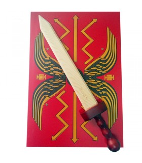 Roman sword and shield in September for children