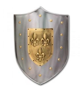 Metal shield Fleur de Lis