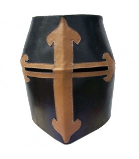 Leather Sugar Loaf Helmet
