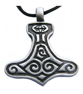 Viking pendant silver finish