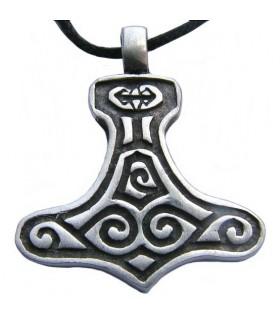 Viking pendant silver finish