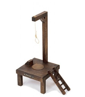 medieval gallows (14x14x30 cm.)