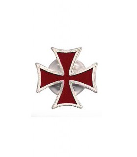 Templar Cross silver brooch