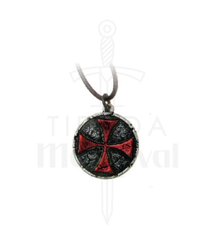 Red templar cross pendant 33 cms medieval shop aloadofball Image collections