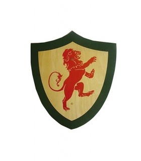 lion red shield children