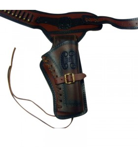 Leather holster for one revolver (right-handed)