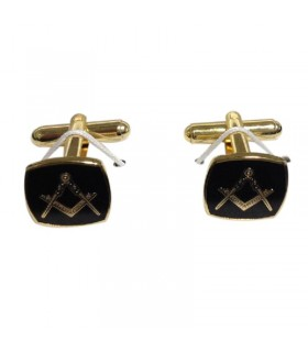 Cufflinks Masonic square and compass