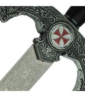 Templar sword rustic decorated