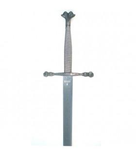 Sword Carlos V, rustic etched blade