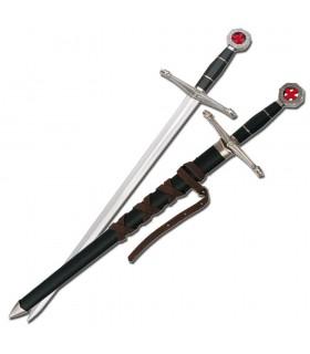 Children Templar sword with scabbard