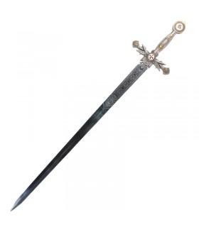 Templar sword decorated