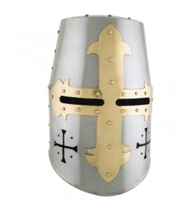 Templar helmet with front and side cross