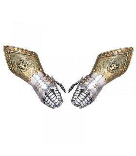Pair of chiseled gauntlets (nonfunctional)