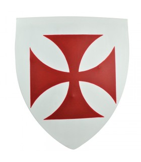 functional Templar shield, 50x60 cms.