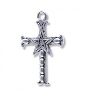 Cross pendant pentacle